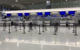成田空港の今。