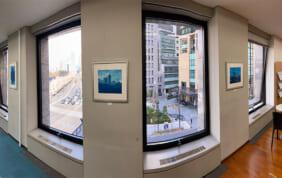 社内の模様替えで、明るく眺めも楽しめるオフィスに