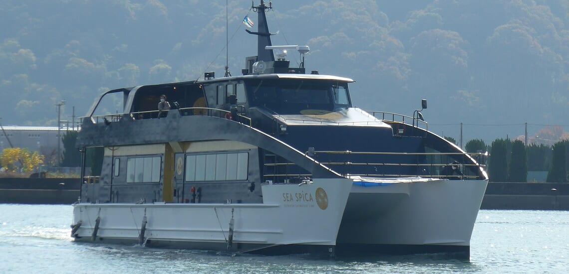 新造客船シースピカとシーパセオで楽しむ 瀬戸内の船旅  4日間
