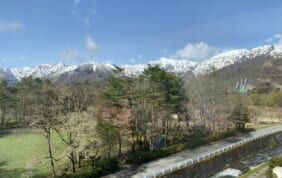安曇野から白馬へ  北アルプス山麓 春風景の旅