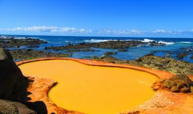 日本海を望む黄金色の露天風呂「不老ふ死温泉」と白神・五能線旅情の旅【4日間】